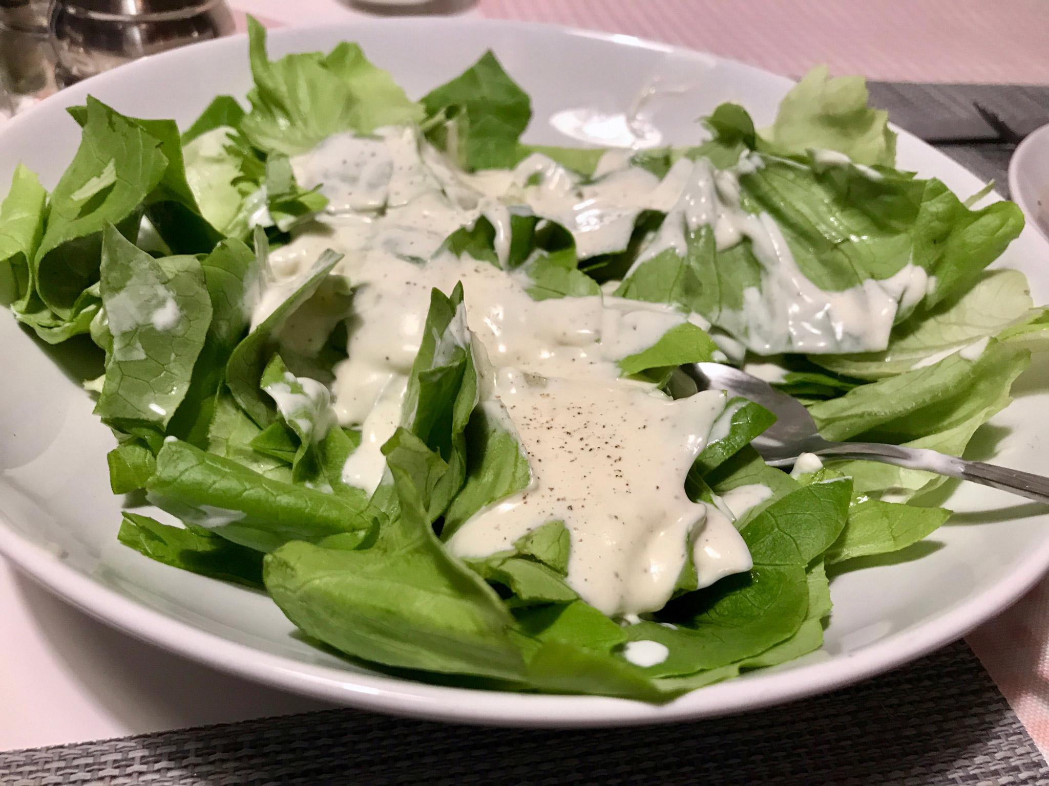 Kopfsalat mit leckerem Zitronen-Sahnedressing