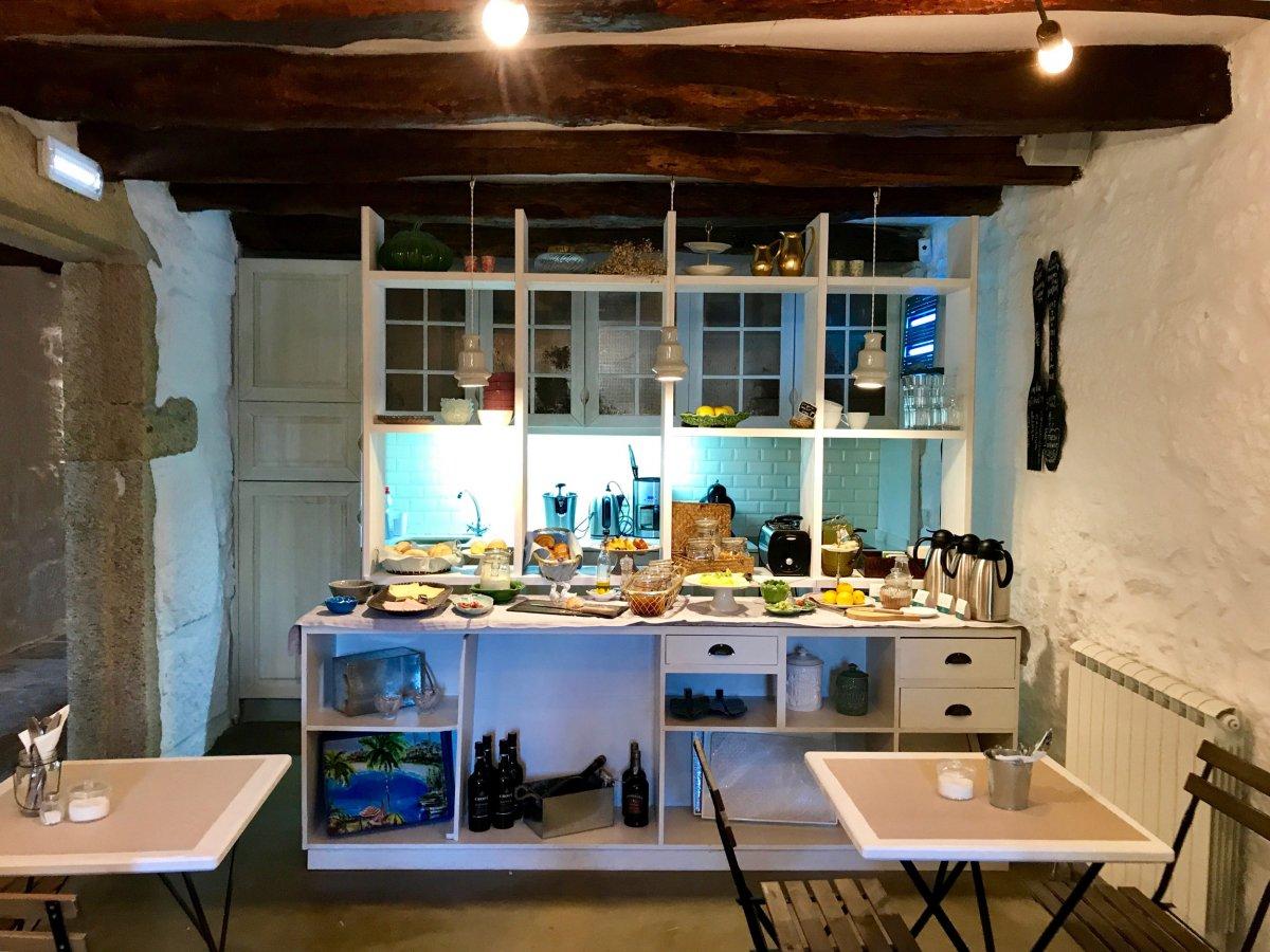Der Frühstücksraum im Casa Carolina